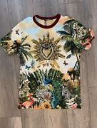 New Pics...new Dolce And Gabbana Jungle Print Shirt With Tags