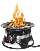 Outland Firebowl 870 Premium Outdoor Portable Propane Gas Fire Pit With Cover And