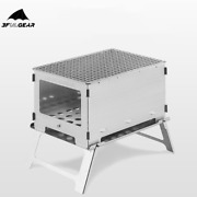 3f Ul Gear Camping Stove Barbecue Titanium Wood Stove Stainless Steel Bbq Grill