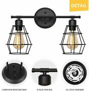 Bathroom Vanity Light Industrial Metal Cage Wall Sconce For Mirror Cabinets