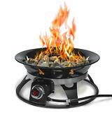 Firebowl 863 Cypress Outdoor Portable Propane Gas Fire Pit With Cover And Carry