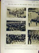 Original Old Vintage Print 1919 Victory March Navy Womenand039s Services Marine 20th
