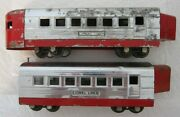 Lionel Pre-war O 1701 Coach And 1702 Observation 1937 Originals-free Shipping