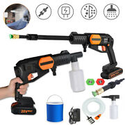 Cordless Pressure Washer Portable Power Cleaner 320psi With Bucket And Charger Us