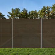 4 Ft Brown Outdoor Pool Privacy Fence For Inground Pools Freestanding Removable