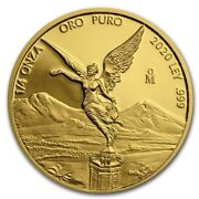 Libertad – Mexico – 2020 1/4 Oz Proof Gold Coin In Capsule Mintage Of 250 Coins