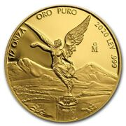 Libertad Andndash Mexico Andndash 2020 1/2 Oz Proof Gold Coin In Capsule Mintage Of 250 Coins