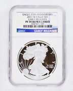 2011-w Proof Silver American Eagle Ngc Pf70 Ultra Cameo Early Releases 1