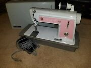 Singer Touch And Sew 604 Pink Vintage Sewing Machine Tested Working W/ Foot Pedal