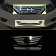 Silver Front Bumper Center Grille Grill 2pcs For Nissan Altima Teana 2016-2018