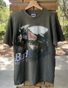 Vintage 1995 Budweiser Frog Wrap Around Print T Shirt Bud King Of Beers Size Xl