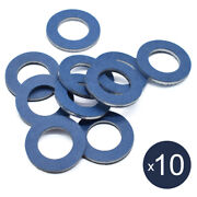 Set Of 10 Oil Drain Sump Plug Washers Gasket Hole For Toyota Oe90430-12031 12mm