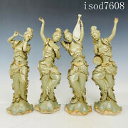 16.8andrdquoantique Chinese Song Dynasty Porcelain Celadon Four Beauties