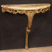 Gilded Console Wood Marble Top Furniture Antique Style Table 20th Century 900