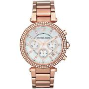Parker Womens Watch Mk5491 Rose Chrono Mother Of Pearl