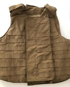 Usmc Point Blank Plate Carrier W/ Soft Inserts Coyote, Medium, Excellent Look