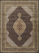 Fine Oriental Mahi Rug 9and039x12and039 Black Hand-knotted Wool Pile
