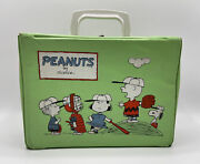 Vintage Peanuts Lunch Box And Thermos By Schulz Charlie Brown And Snoopy Lucy Rare