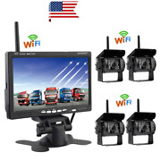 Podofo 7 Tft Lcd Wireless Car Rearview Monitor Hd Display Reverse Assistance Pa