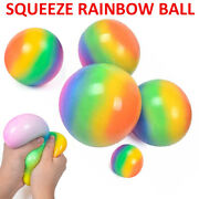 Sensory Toy Flour Rainbow Stress Relief Toys Pinching Squeeze Ball Decompression