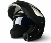 Professional Racing Helmet Modular Dual Lens Motorcycle Full Face Safe New White
