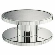 Acme Ornat 40 Round Glass Top Mirrored Coffee Table