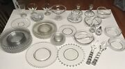 Lot Of Imperial Candlewick Dishes Vintage Glassware Clear Glass Depression Glads