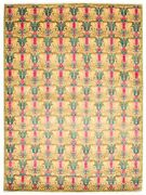 Hand-knotted 9and0392 X 12and0393 Bordered Transitional Wool Rug