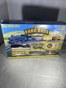 Bachmann The Yard Boss Complete N Scale Electric Train Set 24014 Factory Sealed