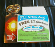 Nm Vintage1982 E.t. The Movie Reesesand039s Pieces Promo Offer Coupons Display