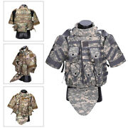 Tactical Military Swat Police Airsoft Molle Combat Assault Sleeve Nylon Vest
