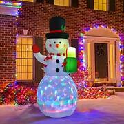 Doingart Lighted Inflatable Snowman Christmas Decoration - 5 Feet Blow Up Sno...