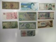 Mixed Assortment Of 10 Different Banknotes World Foreign Currency Paper Money