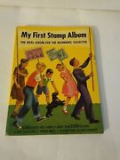 Vintage 1954 My First Stamp Collection Girl And Cub Scout Book W/ Stamp