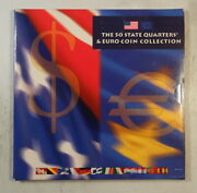 50 States Quarters And Euro Coin Collection 12 Different Bu Euroand039s  0413-39