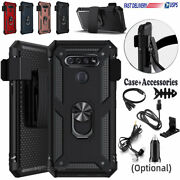 For Lg K51/q51/lg Reflect Magnetic Ring Stand Phone Case Belt Clip Holster Cover