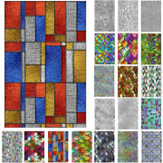 3d Window Film Privacy Stained Glass Static Stickers Cling Frosted Home Decor Us