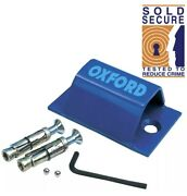 Oxford Brute Force Wall Anchor Ground Anchor Motorbike Motorcycle Sold Secure