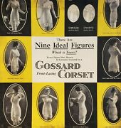 Antique Vintage Gossard Corsets Poster Board Lingerie Fashion History Body Types