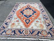 Super Hand Knotted Heris 100 Wool Oriental Rug 6and039 9 X 10and039 Sku C50074