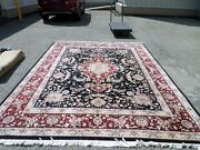 Super Sino Hand Knotted Wool And Silk Oriental Area Rug 8and039 X 10and039 Sku P21027