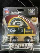 Green Bay Packers Team Wooden Toy Train Damaged Box
