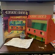 1972 Ideal Toy Corp Pay Off Vintage Retro Marble Trigger Game