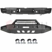 Textured Front / Rear Bumper W Winch Plate Led Light For 2014-2019 Toyota Tundra