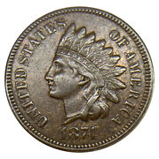 1874 Indian Head Cent Uncertified Coin