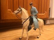 Vintage Hartland Lone Ranger And Horse Toy Figurine Action Figure