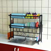 Stainless Steel Dish Drying Rack Over Sink Drainer Shelf Kitchen Storage Kit Top