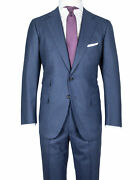Cesare Attolini Suit In Dark Blue With Glencheckmuster And Brown Overplaid 150and039s