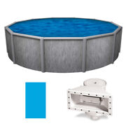 24and039 X 52 Round Southport Glx Above Ground Swimming Pool W/ Blue Liner And Skimmer