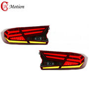Led Tail Lights For Honda Accord 2018-2021 Red Rear Lamp 4pcs Assembly